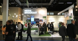 Messestand Media Broadcast auf der AngaCom 2016 in Köln