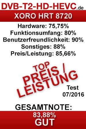 Testergebnis XORO HRT 8720