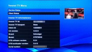 Schwaiger DTR700 - freenet.tv Menü