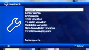 Technisat DigiPal T2 HD - Menü