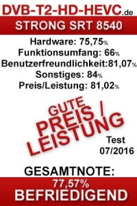 Testergebnis STRONG SRT 8540